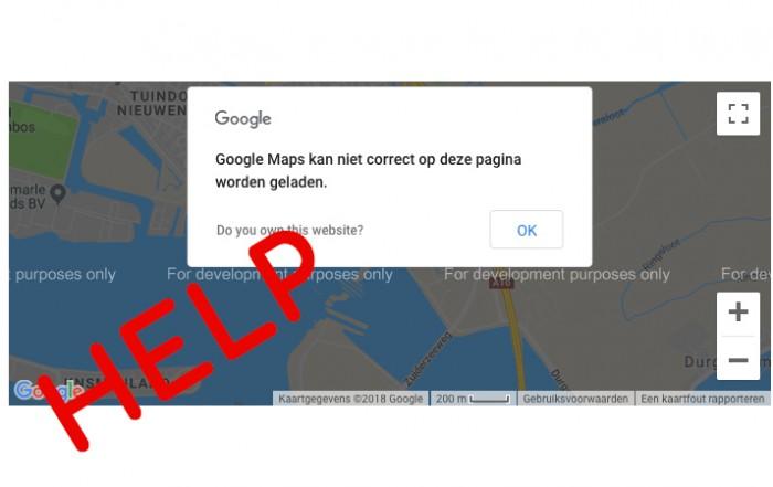 Google-Maps-laadt-niet